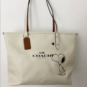 Coach Snoopy Tote Bag